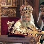 Pope Tawadros II, the new pope of the Coptic Orthodox church, attends his enthronement ceremony at St. Mark Cathedral in Abbasiya, Cairo